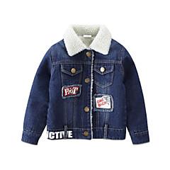 billige Overdele til drenge-Børn / Baby Drenge Trykt mønster Langærmet Bluse
