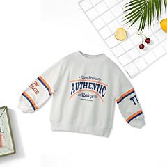 billige Pigetoppe-Børn Pige Geometrisk Langærmet T-shirt
