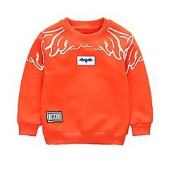 billige Hættetrøjer og sweatshirts til drenge-Børn / Baby Drenge Aktiv Daglig Trykt mønster / Patchwork Trykt mønster Langærmet Normal Bomuld Hættetrøje og sweatshirt Orange
