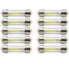 billige Interiørlamper til bil-10pcs 41mm Bil Elpærer 1 W COB 85 lm 1 LED interiør Lights / utvendig Lights Til Universell Universell / KX5 Universell