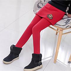 billige Bukser og leggings til piger-Børn Pige Basale / Gade Daglig / I-byen-tøj Trykt mønster Trykt mønster Bomuld / Polyester Leggings Sort 140
