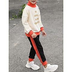 billige Tøjsæt til drenge-Børn Drenge Geometrisk / Farveblok Langærmet Tøjsæt
