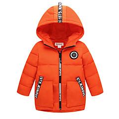 tanie Odzież dla chłopców-Dzieci Dla chłopców Aktywny Solidne kolory Długi rękaw Nylon Odzież puchowa / pikowana Pomarańczowy 100