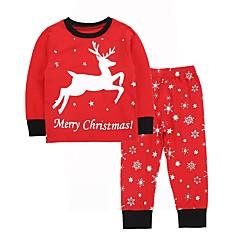 billige Tøjsæt til piger-Baby Pige Trykt mønster Langærmet Tøjsæt