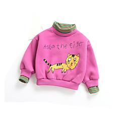 billige Hættetrøjer og sweatshirts til babyer-Baby Pige Basale Daglig Ensfarvet Langærmet Bomuld / Polyester Hættetrøje og sweatshirt Beige 100