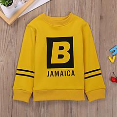 billige Hættetrøjer og sweatshirts til drenge-Børn Drenge Basale / Gade Daglig Trykt mønster Trykt mønster Langærmet Normal Bomuld / Polyester Hættetrøje og sweatshirt Grøn