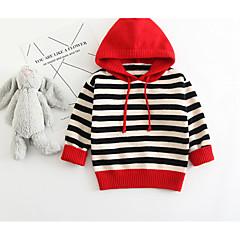 billige Sweaters og cardigans til babyer-Baby Pige Ensfarvet Langærmet Trøje og cardigan