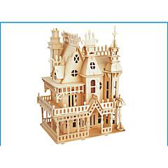 preiswerte -3D - Puzzle Holzpuzzle Holzmodelle Modellbausätze Burg Berühmte Gebäude Holz Naturholz Erwachsene Unisex Geschenk