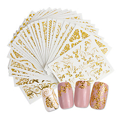cheap Nail Stickers-20 pcs 3D Nail Stickers Creative nail art Manicure Pedicure Best Quality Trendy / Fashion Daily
