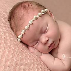 baratos Acessórios para Crianças-Bébé Unisexo Activo Sólido Acessórios de Cabelo Branco Tamanho Único