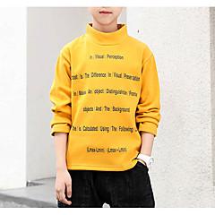 tanie Odzież dla chłopców-Dzieci Dla chłopców Solidne kolory Długi rękaw Bluzka