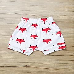 billige Bukser og leggings til piger-Baby Pige Aktiv / Basale Daglig / Sport Trykt mønster Trykt mønster Bomuld Shorts Hvid 110