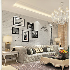 cheap -Wallpaper / Mural Canvas Wall Covering - Adhesive required Botanical / Art Deco / 3D