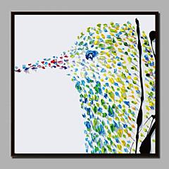 billige Innrammet kunst-Trykk Strukket Lerret Trykk - Jul Moderne Moderne