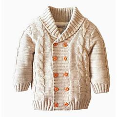 tanie Odzież dla dziewczynek-Dzieci Dla dziewczynek Podstawowy Solidne kolory Długi rękaw Akryl / Poliester Sweter i kardigan Granatowy 100