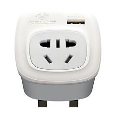 baratos Iluminação Decorativa-BULL 1pç Proteção infantil / UK ABS + PC Adaptador de Energia 2500 W