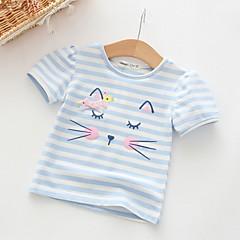 billige Babyoverdele-Baby Pige Basale Ensfarvet Langærmet Polyester T-shirt Lyserød