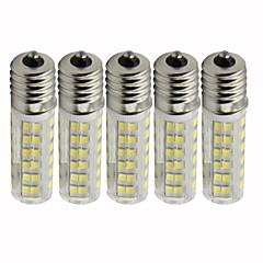 baratos Iluminação Decorativa-5pçs 4.5 W 450 lm E17 Lâmpadas Espiga T 76 Contas LED SMD 2835 Regulável Branco Quente / Branco Frio 110 V