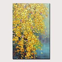 cheap -Mintura® Large Size Hand Painted Knife Flower Oil Paintings On Canvas Modern Abstract Wall Art Picture For Home Decoration No Framed