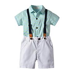 economico Abbigliamento per bambini-Bambino Da ragazzo Essenziale Con stampe Manica corta Cotone Completo Blu