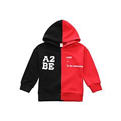 billige Hættetrøjer og sweatshirts til babyer-Baby Pige Vintage Ensfarvet Langærmet Akryl Hættetrøje og sweatshirt Rød