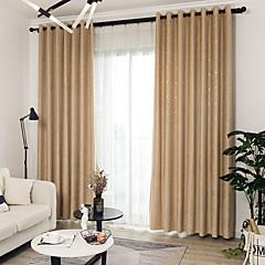 tanie Akcesoria okienne-Zasłony zasłony Dwa panele Niestandardowy rozmiar Żółty / Żakard / Sypialnia