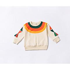 billige Hættetrøjer og sweatshirts til babyer-Baby Pige Basale Daglig Ensfarvet Langærmet Normal Bomuld / Polyester Hættetrøje og sweatshirt Beige