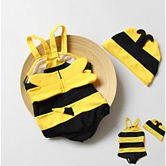 billige Badetøj til piger-Børn Pige Sport Ensfarvet Bomuld / Polyester Badetøj Gul