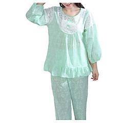 billige Moteundertøy-Dame Rund hals Dress Pyjamas - Ensfarget