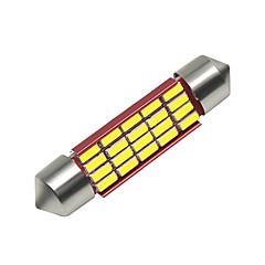 billige Interiørlamper til bil-SO.K 4stk 41mm Bil Elpærer 3 W SMD 4014 250 lm 16 LED interiør Lights Til Universell Alle år