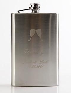 abordables Flasques-Marié / Groom Cadeaux Piece / Set Flasque Luxueux / Classique / Moderne Mariage / Célébration / Anniversaire Inox Personnalisé Flasque