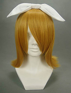 cheap Videogame Cosplay Wigs-Cosplay Wigs Vocaloid Kagamine Rin Anime/ Video Games Cosplay Wigs 40 CM Heat Resistant Fiber Women's