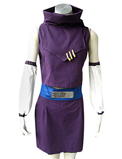 """billige Anime Kostymer-Inspirert av Naruto Ino Yamanaka Anime  """"Cosplay-kostymer"""" Cosplay Klær Lapper Ermeløs Topp / Skjørte / Ermer Til Dame Halloween-kostymer"""