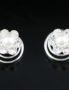 お買い得  フラワーガール-豪華なラインストーン/人造真珠♥ウェディング♥ヘアピン(2個セット)