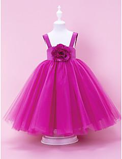 billige Skjørt-A-line ball gown prinsesse gulvlengde blomst jente kjole - tulle ermeløs stropper av lan ting bride®