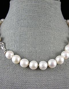preiswerte Schmuck Ausverkauf-Damen Blume Perle Sterling Silber Perlenkette Y-Ketten  -  Einzelkette Weiß Modische Halsketten Für Hochzeit Party Jahrestag