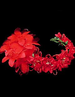 模造真珠のサテンの紙の飾り飾り花のヘッドピースのエレガントなスタイル