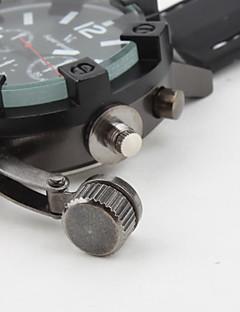 V6 男性用 軍用腕時計 クォーツ 日本産クォーツ シリコーン バンド ブラック