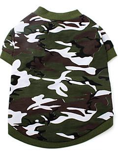 Cachorro Camiseta Roupas para Cães Fashion camuflagem Verde