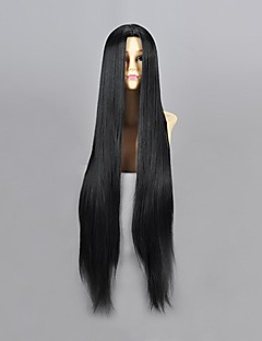 Cosplay Wigs Naruto Haku Ha Black Long Anime Cosplay Wigs 100 CM Heat Resistant Fiber Male