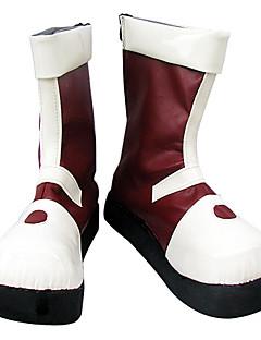 billige Anime Cosplay Sko-Cosplay støvler inspirert av Hunter X Hunter Killua zaoldyeck hvit rød