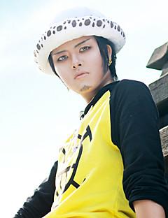 """billige Anime cosplay-Inspirert av One Piece Trafalgar Law Anime  """"Cosplay-kostymer"""" Cosplay Topper / Underdele Trykt mønster Langermet Topp Til Herre"""