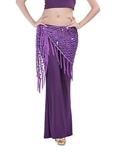 Žene nose dance chinlon s sequined trbušni ples trokut šal više boja dostupnih