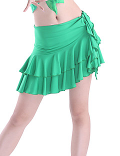 Latin Dance Skirts Women's Training Viscose Tier 1 Piece Natural