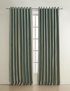 billige Gardiner-gardiner gardiner Stribe 100% Polyester / Rayon Mønstret