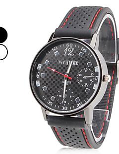 Χαμηλού Κόστους ASJ®-Ανδρικά Χαλαζίας Ρολόι Καρπού Ιαπωνικά Καθημερινό Ρολόι σιλικόνη Μπάντα Φυλαχτό Μαύρο