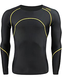 tanie Bielizna i odzież termoaktywna-SANTIC Męskie Długi rękaw Koszulka rowerowa Rower Koszulka / Rajstopy rowerowe, Keep Warm, Oddychający Spandeks / Wysoka elastyczność