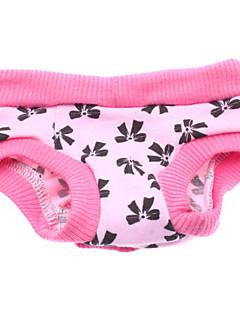 billiga Hundkläder-Hund Byxor Hundkläder Rosett Rosa Cotton Kostym För husdjur