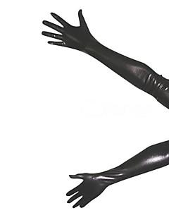 billige Zentai-Hansker Huddrag Ninja Zentai Cosplay-kostymer Svart Ensfarget Hansker Spandex Herre Dame Jul Halloween / Høy Elastisitet