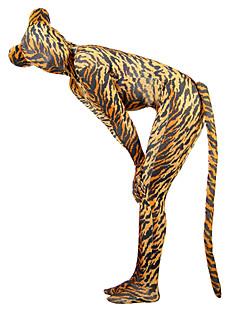 Costume Zentai cu model Animal Monștrii Zentai Costume Cosplay Maro Mată Coadă Costum Pisică Spandex Lycra Unisex Halloween An Nou